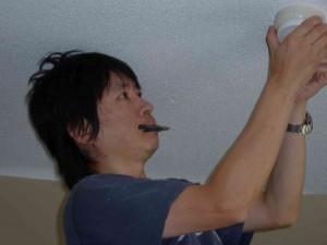 真剣な顔の吉野さんです。