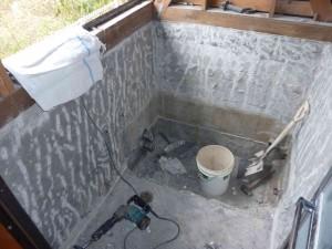 浴室解体完成間際。