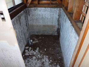 浴室解体後。