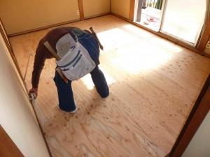 2階の荒床張替え後。