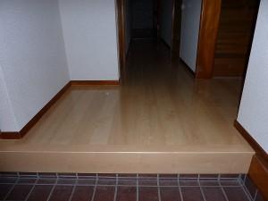 床重ね張り完成。