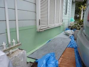 外壁補修済み。