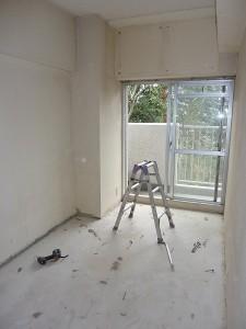 洋室�の下処理完成。