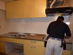 綺麗な黄色のキッチン。