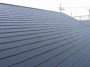 大屋根上塗り1回目完成。