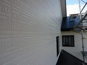 外壁には水性シリコン塗料。