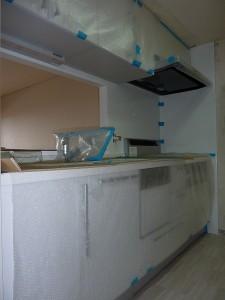システムキッチン設置済み。