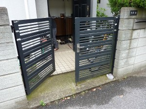 約15年程前の門扉錠。