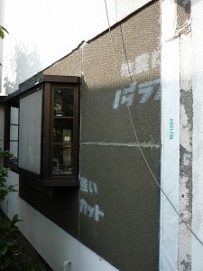 出窓周りの補修。