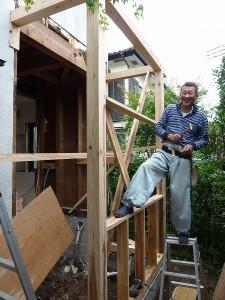 増築、再び施工開始。