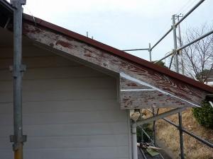 反対側の破風板。