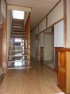 廊下完成後。