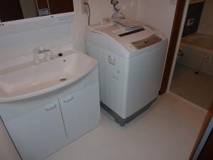 Panasonic社製洗面化粧台設置完了。